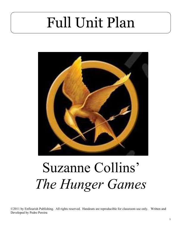 The Hunger Games Vocabulary List With Page Numbers